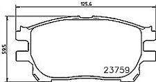 TOYOTA PREVIA LUCIDA ESTIMA 2.4 2.0 CDX D4D 2003-07BRAKE PADS MINTEX FRONT