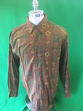 The Territory Ahead Long Sleeve Button Front Floral Shirt Men's Large