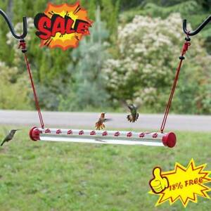Best Hummingbird Feeder with Hole Birds Feeding Pipe Easy to Use 40cm HOT