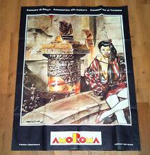 AMOROMA poster manifesto pubblicitario Turismo Tanino Liberatore Roma 1985