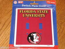 Fsu Team Switch Plate Cover Florida State Univer Seminoles Collegiate Nwt New *^