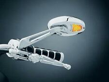 KURYAKYN UNIVERSAL LED LIGHTS MOTORCYCLE MIRRORS MIRROR SET CHROME TURN SIGNAL