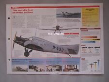 Aircraft of the World Card 13 , Group 14 - Junkers F13