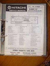 Service Manual pour Hitachi D-E07/17 Platine Cassette ORIGINAL