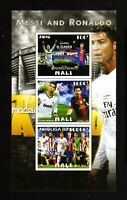 MALI - 2016  FOOTBALL Cristiano Ronaldo  and  Lionel Messi  BLOCK unused MNH**