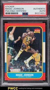 1986 Fleer Basketball Magic Johnson PSA/DNA AUTO #53 PSA AUTH