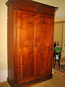 FRENCH LOUIE PHILLIPPE ARMOIRE, WINE CABINET, STORAGE, WARDROBE ,SOLID CHERRY