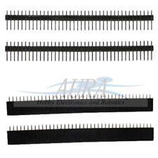 2 par de 4 X 40 pin encabezado 2 Macho 2 Hembra SIL 2.54mm solo Arduino UK A307 A206