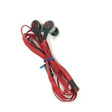 Beats by Dr Dre Tour Monster Headphones Earbuds w Control Talk Black Red Tested