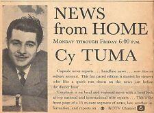 1958 KOTV TV AD~CY TUMA~MR NEWS in TULSA OKLAHOMA~NEWS DIRECTOR & REPORTER