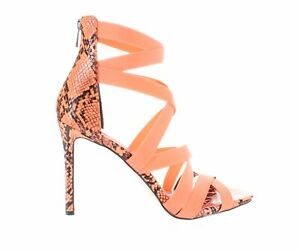 Jessica Simpson Womens Jyra Neon Coral Sandals Size 11 (1638181)