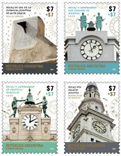 ARGENTINA. (2015). Public Clocks. Complete 4-stamp s MNH.Excellent condition.