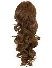Extensions de cheveux queues de cheval brun longs pour femme
