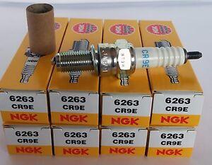 CR9E NGK Spark Plugs - Ducati Kawasaki Suzuki Yamaha SET OF 8 Spark Plugs