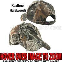 Men's Realtree Hardwoods Camo Hat Baseball Cap Hunting Adjustable NEW