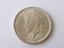 coin -1943 MALAYA STRAIT SETTLEMENT KING GEORGE VI 10 CENTS SILVER COIN (#58-2)