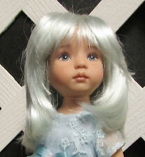 """Doll Wig, Monique Gold """"Beth"""" Size 6/7 in Light Blue"""