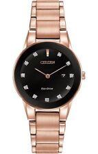 Citizen Axiom Eco-Drive Diamond Dial Rose Gold Steel Women's Watch GA1058-59Q