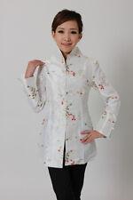 UK Stock White Embroidery Flower Women's Jacket Coat Evening Party Dress Size 10