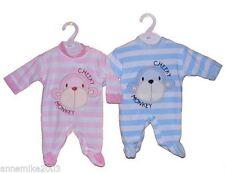 Pyjamas bleus en velours pour fille de 0 à 24 mois