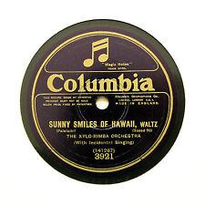 "XYLO-RIMBA ORCHESTRA ""Sunny Smiles Of Hawaii"" 1925 (E) COLUMBIA 3921 [78 RPM]"
