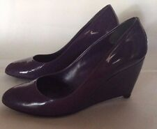 Miu Miu Purple, Patent Leather, Wedge, size 5, 36