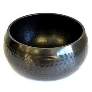 Tibetan Singing Bowl - Black Mantra Bowl Meditation Bowl - Suzu Gong Rin Gong