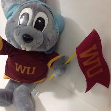 "Rocky Racoon 19"" Plush Wossamotta University Shirt and Flag Toy Network 2001"