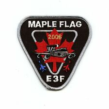 RCAF CAF Canadian 4 Wing Cold Lake 2006 E3F Maple Flag Colour Crest Patch