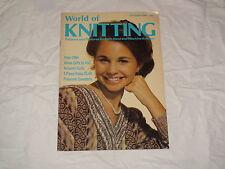 KNITTING MACHINE MAGAZINE WORLD OF KNITTING OCTOBER 1984