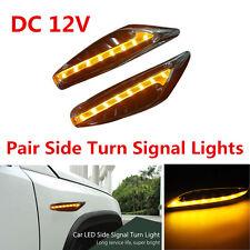 1 Pair DC 12V Yellow Blade Car Steering Light LED Turn Signal Fender Side Lights