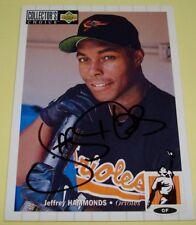 1994 UD Collectors Choice #123 Orioles JEFFREY HAMMONDS Auto Autograph Card