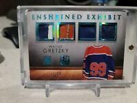 2014 WAYNE GRETZKY IN THE GAME ITG ENSHRINED QUAD PRIME GAME USED PATCH /10