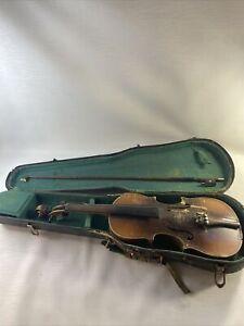 Vintage Violin and Case PARTS REPAIR