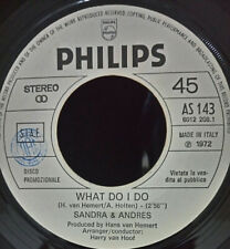 "Sandra & Andres ""What do i do"" Eurovision Netherlands 1972 PROMO Italy Pressing"