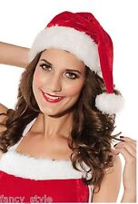 Santa Hat Father Christmas Fancy Dress Ms Santa one Size Costume