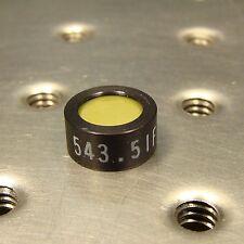 OPTICAL BANDPASS FILTER for GREEN HELIUM NEON HeNe LASER 543.5nm, 12.7mm dia