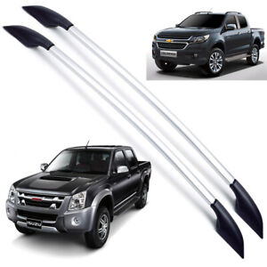 For Isuzu Chevrolet Holden Rodeo D-Max Colorado 12 2018 Roof Rail Bar L+R Silver