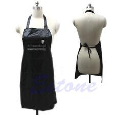 Salon Hair Tool Adjustable Apron Bib Uniform With 2 Pockets Hairdresser Black
