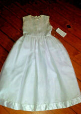 NWT - STRASBURG- Girls hand embroidery Heirloom dress - white - Size 12