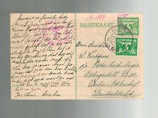 1943 Harlem Netherlands Postcard Cover to Adlershoff Germany Slave Labor Camp KZ