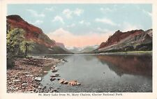 Glacier National Park postcard St. Mary Lake from St. Mary Chalets