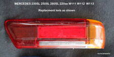 MERCEDES 230SL 280SL Tail light lens insert  Rt side  W113  Pagoda 63 - 68 EURO