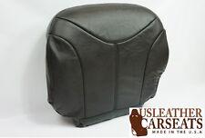 2000 2001 2002 GMC Sierra Yukon Passenger Bottom Leather Seat Cover Dark Gray