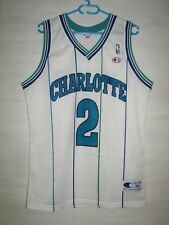 #2 LARRY JOHNSON CHARLOTTE HORNETS SHIRT VINTAGE CHAMPION JERSEY SIZE XL
