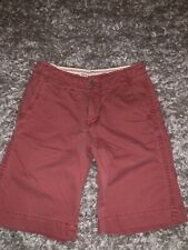 AMERICAN EAGLE OUTFITTERS LONGER LENGTH RED CHINO SHORTS SIZE 30