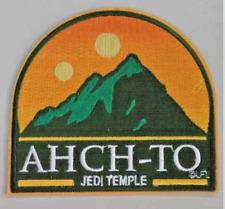 "Star Wars Ahch-To ""Jedi Temple"" Embroidered Patch -new"