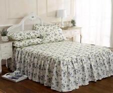 Couvre-lit bleu en polyester