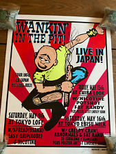 1998 Wankin in the Pit Japanese Tour Lindsey Kuhn Signed Silkscreen Poster Rare