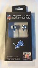 Detroit Lions iHip Premium Audio Earphones Earbuds - iPhone iPod NEW